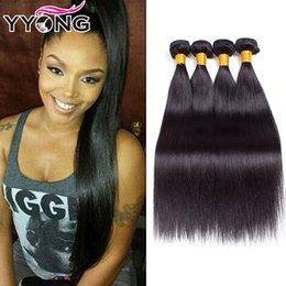 Wholesale Soft Brazilian Virgin Hair - YYONG Cheap Best Selling Brazilian Straight Hair 4pcs Unprocessed Human Hair Soft Mink 8A Virgin Hair Straight Natural Color Free Shipping
