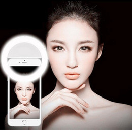 Luz de anillo LED para selfie Luz de foco de círculo Círculo redondo Rellene la luz de la lámpara Speedlite Mejora la fotografía para el iPhone 7 más Samsung Note 7 desde fabricantes