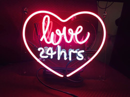 "Wholesale Games Places - Neon Signs Neon Light Sign ""Love 24 Hours"" 10"" x 9"" Cool Home Decor for Beer Pub Hotel Beach Cocktail Recreational Game Room"
