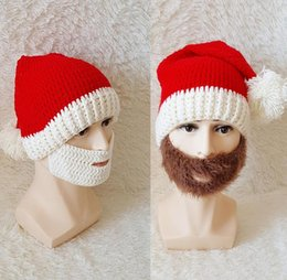 Wholesale Crocheted Boys Stocking Hat - Large Size Girls Boys Crochet Chrismas Red Santa Clause Stocking Cap Adult Hat Photo Prop Drop Ship