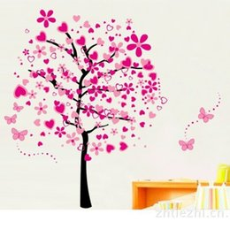 Wholesale Vinyl Surfaces - Wall Stickers For Room Eco Friendly Love Tree Decals Nursery Waterproof PVC Wall Art Home Decor Sticker Hot Sell 7lk J R