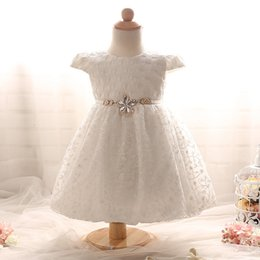 Wholesale Name Brand Design - 2017 new arrival name brand new born baby embroidery dress designs baby smock baptism birthday dress