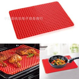 Wholesale Mat Adhesive - Pyramid Pan Great For Breaded Foods Cook Light Crispy Adhesive Pads Barbecue Cooling Pad Cushion Silica Gel Food Thermal Mat 8cj R