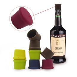Wholesale Flip Bottle Stoppers - 1000pcs Creative Silicone Fresh Beer Bottle Stopper Cruet Of Wine Cork Stopper Bottle Cap Flip Top Lid Seal Cork Bar Tool ZA1113
