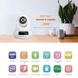 Wholesale Digital Zoom Cctv - Sricam SP018 WifI IP Camera PTZ 4x Digital Zoom Security Camera Support Micro SD Card CMOS P2P 2MP CCTV Full HD 1080P Camera