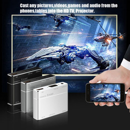 Wholesale Mirror Adapters - Miracast Screen Mirroring S8 pro HDMI VGA for IOS8 Android 5.0 Above Grey for Home theater business meeting