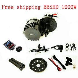 Wholesale Ebike Kits - 48V 1000W 46T Chainwheel BBSHD BBS03 8Fun Bafang Mid Drive Motor Ebike Kits With LCD C965 850c Display