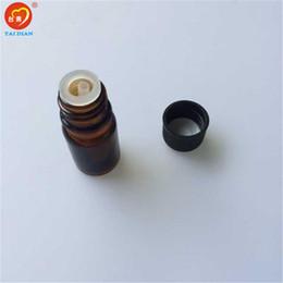 Wholesale Brown Glass Jars - 5ml Mini Amber Glass Bottles with Leakproof Stopper Brown Liquid Jars Essential Oil Bottles 24pcs lot