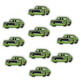 2019 reparos de ferro carros 10 pcs carros verdes patches emblemas para roupas de ferro bordado patch applique ferro em remendos acessórios de costura para roupas diy reparos de ferro carros barato
