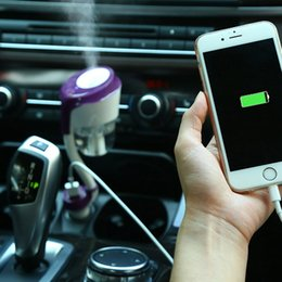 Wholesale 12v Car Air Freshener - Nanum II Car Humidifiers ii air freshener 12V Car charger High Quality Nebulizer humidificador Mute Home Air Sterilization