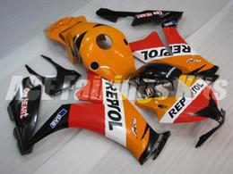 Wholesale Cbr Repsol Body Kit - New ABS Injection bike Full Fairings Kits 100% Fit For HONDA CBR1000RR 2012 2013 2014 2015 1000RR CBR 12 13 14 16 body set red orange repsol