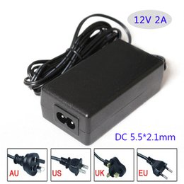 Wholesale Uk Ac Plug Type - AC DC adapter 12V 2A 24W Led switching power supply Table type with ac cable AU EU UK US plug available
