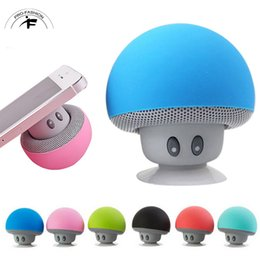 Wholesale Mini Wireless Audio Receiver - Mushroom Mini Wireless Bluetooth Speaker Hands Free Sucker Cup Audio Receiver Music Stereo Subwoofer USB For Android IOS PC for s7 edge