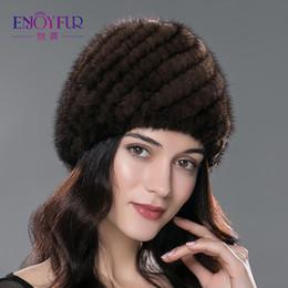 Wholesale Genuine Mink Hat - Winter mink fur hat for women genuine natural fur Pineapple cap Russian beanies hat fashion good quality thick warm fur hats