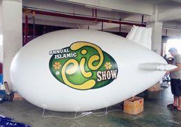 Wholesale Advertisement Printing - 4m 5m 6m 7m Printed PVC Inflatable Zeppelin Blimp For Advertisement