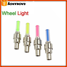 Wholesale cycles tires - LED bike lights with battery mountain road bike bicycle Cycling light lights LED Tyre Tire Valve Caps Wheel spokes Colorful light Waterproof