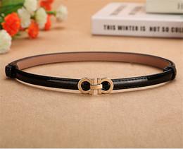 cinturón corsé de cuero marrón Rebajas Nueva alta calidad de dicha cantidad famoso cuero de la PU correa para las mujeres de oro liso de la hebilla de las mujeres de la marca de diseño Cinturones de 8 colores eligieron A0125