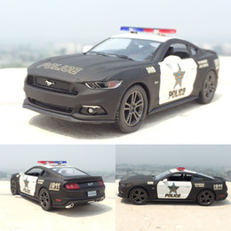 Wholesale Police Toy Car - 1:38 Ford Mustang GT Police Alloy Diecast Model Car Pull Back Vehicle Toy Collection As Gift For Boy Children