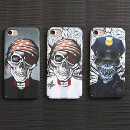 Wholesale Skull Head Plastic Cases - Skull Head Phone Case Night Light Glow in dark Cover Shell Skins for iPhone 7 plus Fluorescent hard Back Shell for iPhone 7 4.7 5.5inch