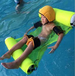 Wholesale Swimming Mattress - Water Hammock Lounger Pool Float Inflatable Air Mattress Beach Swimming Pool Equipment Swimming Accessories 4 Colors LJJO2103
