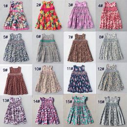 Wholesale Lolita Short Dress - New Arrival Girls Flower Dresses Children Princess Short Sleeve Lovely Dress Kids Flower Printed For Big Girls Hand Making 2017 Summer