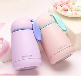 Wholesale Thermal Cup Kids - Women Candy Color Thermos Stainless Steel Vacuum Flasks Thermoses Travel Mug School cup Kids Sport Water Bottle 4 Color