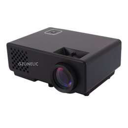 Wholesale cheap digital video - Wholesale-GZUNELIC New Home Theater Pico Cheap Digital HD 1080P mini Portable HDMI USB LCD LED Video Projector Beamer Projetor Proyector