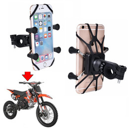Wholesale bolt holders - Handlebar Rail Mount with U-Bolt Base Universal X-Grip Cell Phone Bike Motorcycle Electronic Car Mount Holder