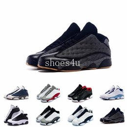 Wholesale Shinny Fabric - DB DOERNBECHER Retro XIII 13s mens basketball shoes athletic trainer sports footwear for women sneaker shinny leather free ship Jump man 13