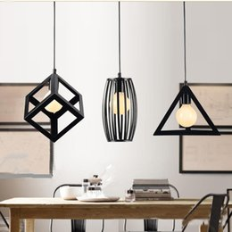 Wholesale Modern Country Pendant Lamp - NEW Vintage Iron Pendant Light Industrial Loft Retro Droplight Bar Cafe Bedroom Restaurant American Country Style Hanging Lamp