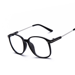 Wholesale Plain Eye Glasses For Men - Wholesale- retro vitage brand round frame plain computer eyeglasses for men women optical myopia eye glasses frame oculos de grau F15013