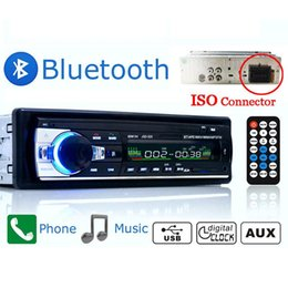 Wholesale Car Head Unit Usb Bluetooth - Wholesale- New Arrival HOT SALE 12V In Dash Car Stereo Player Radio MP3 USB SD AUX FM Bluetooth Head Unit Professional MP3 Player Gifts