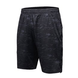 Wholesale Building Clothes - Wholesale- Men Shorts Loose Black Short Pants Fitness Running Gym Clothing Male Bottom Body Building Slim Sports Shorts Men LS03D