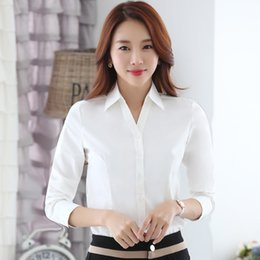 Wholesale Korean Women S Casual Wear - YIMOSI Autumn Women Blouse Office Shirts 2017 Korean Long Sleeve White Black Shirts Lady Tops Casual Work Wear Female Blusas