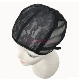 Wholesale Hair Nets For Wigs - Wholesale price Wig Caps For Making Adjustable Straps Back Swiss Lace Full Front Lace Wig Cap Wig Weave Net Hair Extension Free Shipping