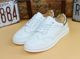 Wholesale Vintage Lace Cut Out Oxfords - 2017 New Style Men Oxford Shoes Brand Vintage Carved Brogue Loafers Shoes Zapatos Hombre Genuine Leather Shoes Casual Flats GX108