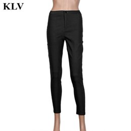 Wholesale Ladies Office Pants Fashion - Wholesale- 2016 Autunm Women Fashion Slim Pencil Stretch Lady Casual Denim Skinny Jeans Office Lady Tight FittingHigh Waist Trousers Oct18