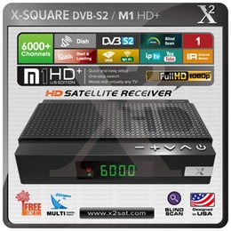 Wholesale Digital Satellite Receiver Mini - X2 M1 HD+ DVB-S2 Mini Digital Satellite Receiver & USB PVR Media Player (FREE TO AIR)