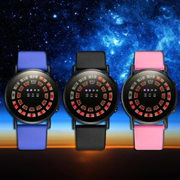 Wholesale Mirror Led Watch Round - Supply the latest ultra slim LED mirror watch fashion creative LED watch spider web ball type