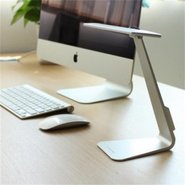 Wholesale Desk Study Lamps - New Foldable Led Table Lamp Touching Reading Desk Lamp for Office Use ABS Material 3 Brightness with Touch Switch Silver Gray Gold Led Lamp