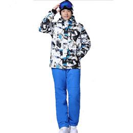 Wholesale Cream Suit Jacket - Wholesale- New arrival 2016 male ski suits snowboard suit jacket+pants set men waterproof breathable thermal cotton-padded winter snow coat