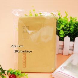 Wholesale Self Adhesive Seal Packaging Bags - 20*30cm Transparent plastic bags sealing bag Magazines Clothes Packaging Self-adhesive Bag Spot 200   package