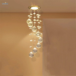 Wholesale Led Hallway Lighting For Office - Modern Crystal Chandelier Light Fixture Crystal Lamp Crystal lustres Light fitting for Aisle Hallway Porch Staircase