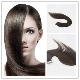 Wholesale Double Sided Tape Prices - Wholesale Price Straight Tape Hair Extensions Double Side Fashion Color #2 Tape in Remy Human Hair Extensions