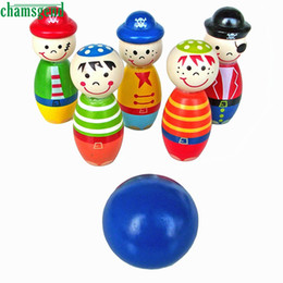 Wholesale Inflatable Trampolines For Kids - Wholesale- CHAMSGEND Modern Children Toys Wooden Bowling Ball Skittle Funny Shape for Kids Game Drop Shipping F21