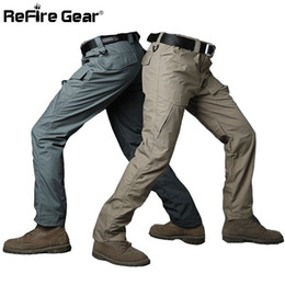 Wholesale Military Cargo Combat - Summer Militar Rip-Stop Waterproof Tactical Pants Men Camouflage Military Cargo Pants Teflon Breathable Army Combat Trousers 17416