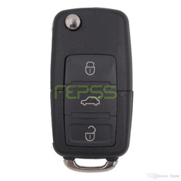 Wholesale Vw Keyless Entry - 1K0 959 753 G Folding Flip Key Keyless Entry Remote Transmitter For VW VOLKSWAGEN SEAT 3 Button 434MHZ With ID48 Chip