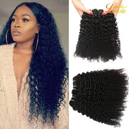 Wholesale Cheap Wholesale Bleach - Wholesale Cheap Kinky Curly Wave Bundles Brazilian Human Hair Extensions 4 Bundles With Nature Color Dye able Bleach able free shipping