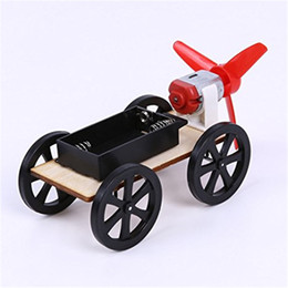 Wholesale Powered Model Cars - DIY Wind Power Car Small Production Science and Technology Educational Model Assembled Toys Creative Novelty Gifts For Children