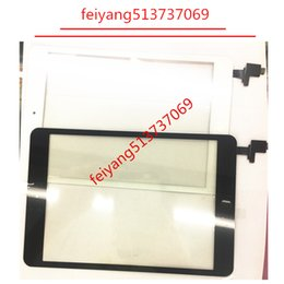 Wholesale Ipad Mini Lenses - Touch Screen Digitizer with IC with Home Button outer Glass lens Assembly Panel Replacement For iPad Mini 3